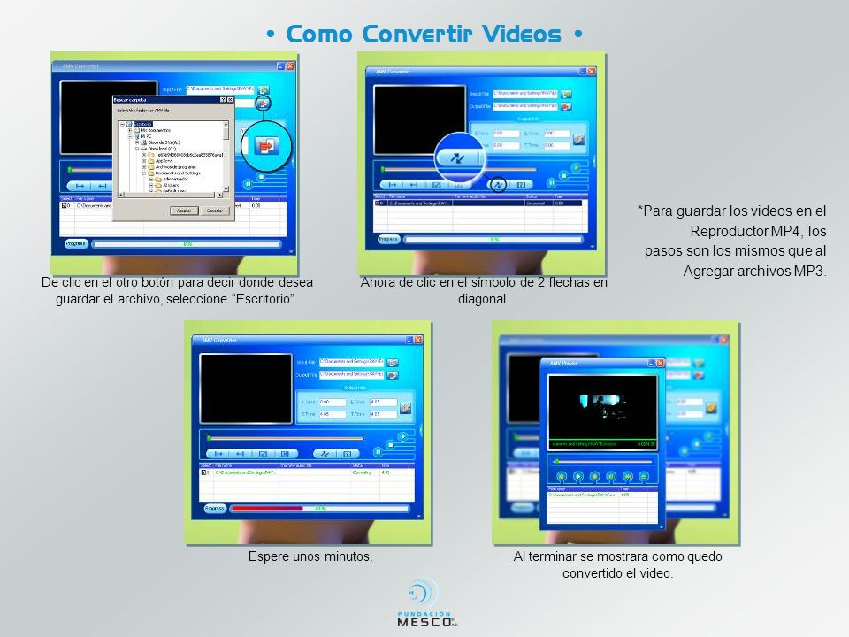 • Como Convertir Videos •