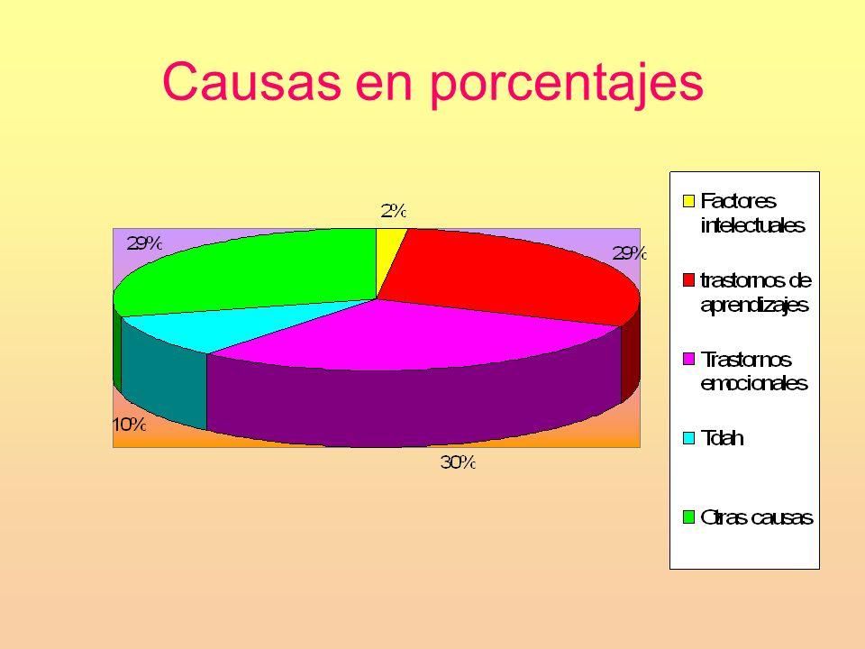 Causas en porcentajes
