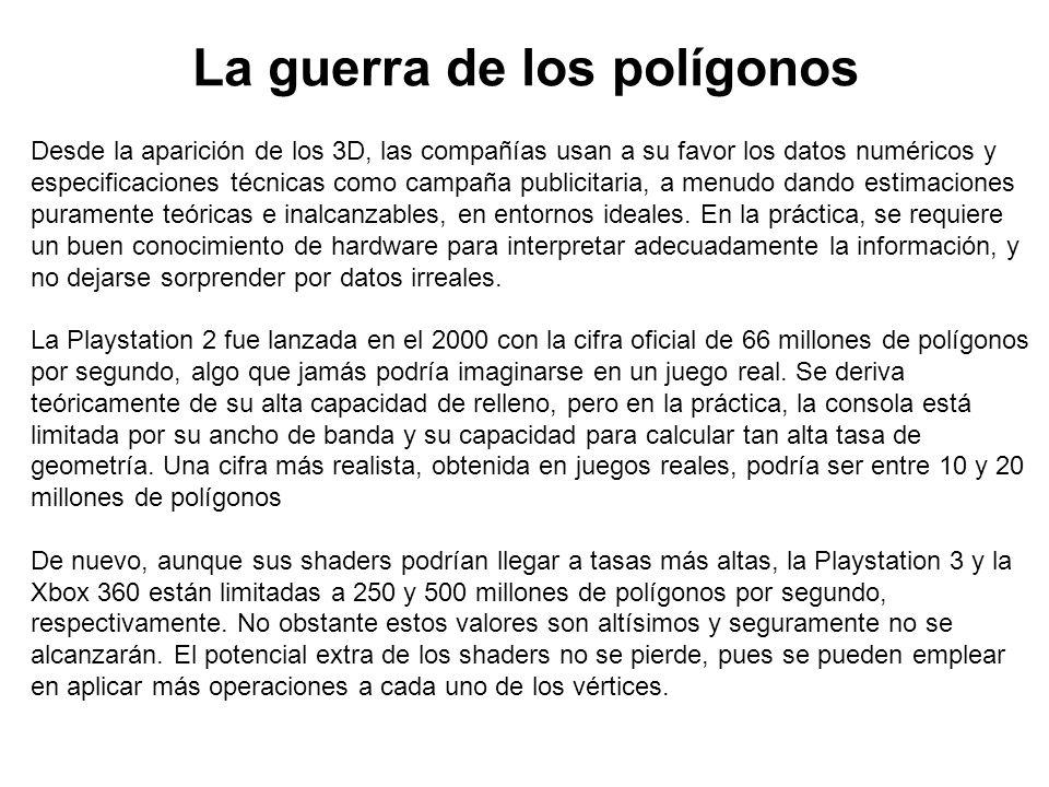 La guerra de los polígonos