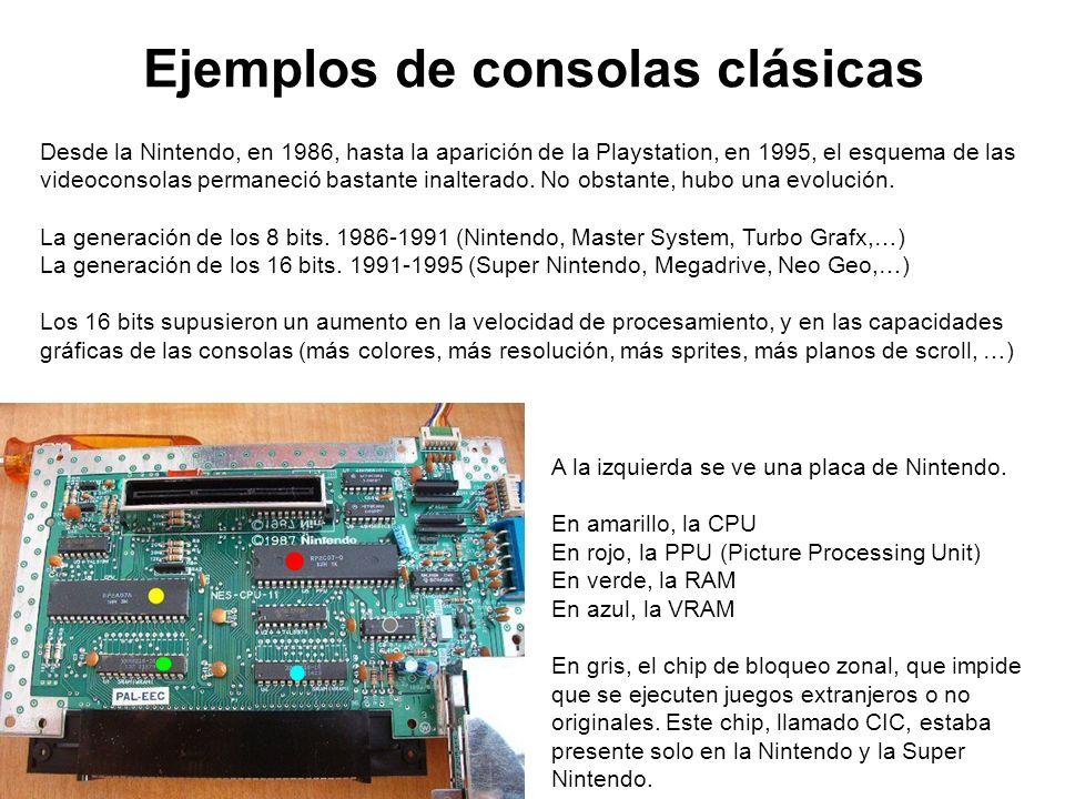 Ejemplos de consolas clásicas