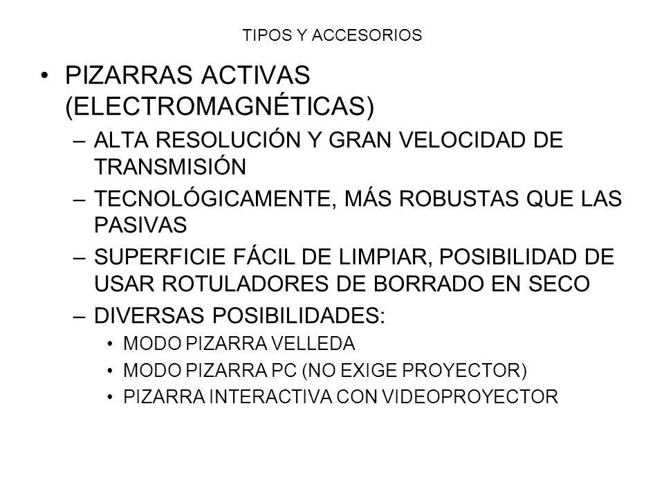 PIZARRAS ACTIVAS (ELECTROMAGNÉTICAS)