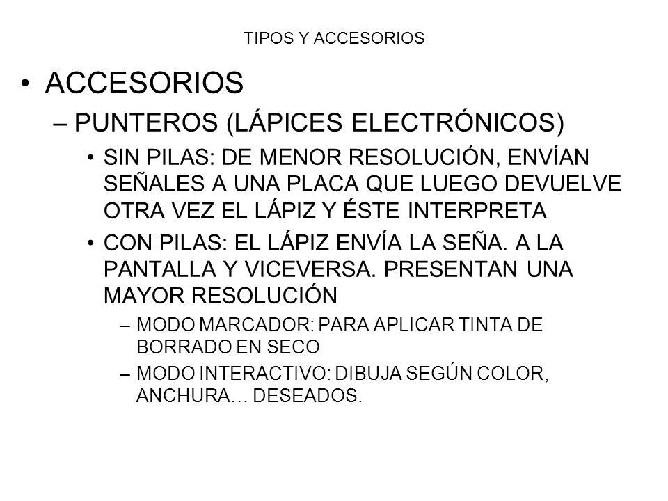ACCESORIOS PUNTEROS (LÁPICES ELECTRÓNICOS)