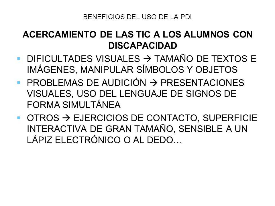 BENEFICIOS DEL USO DE LA PDI