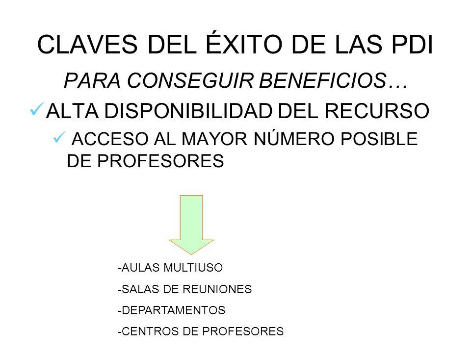 CLAVES DEL ÉXITO DE LAS PDI
