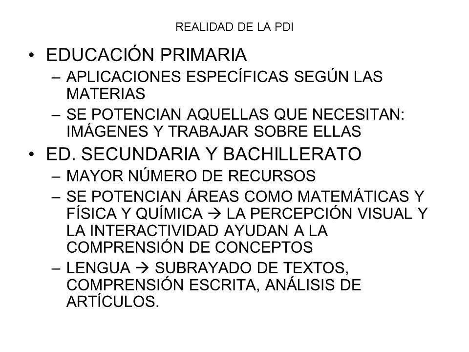 ED. SECUNDARIA Y BACHILLERATO