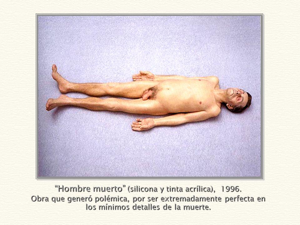 Hombre muerto (silicona y tinta acrílica), 1996.