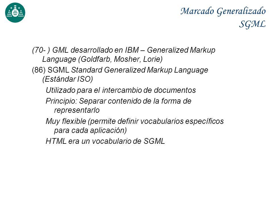 Marcado Generalizado SGML