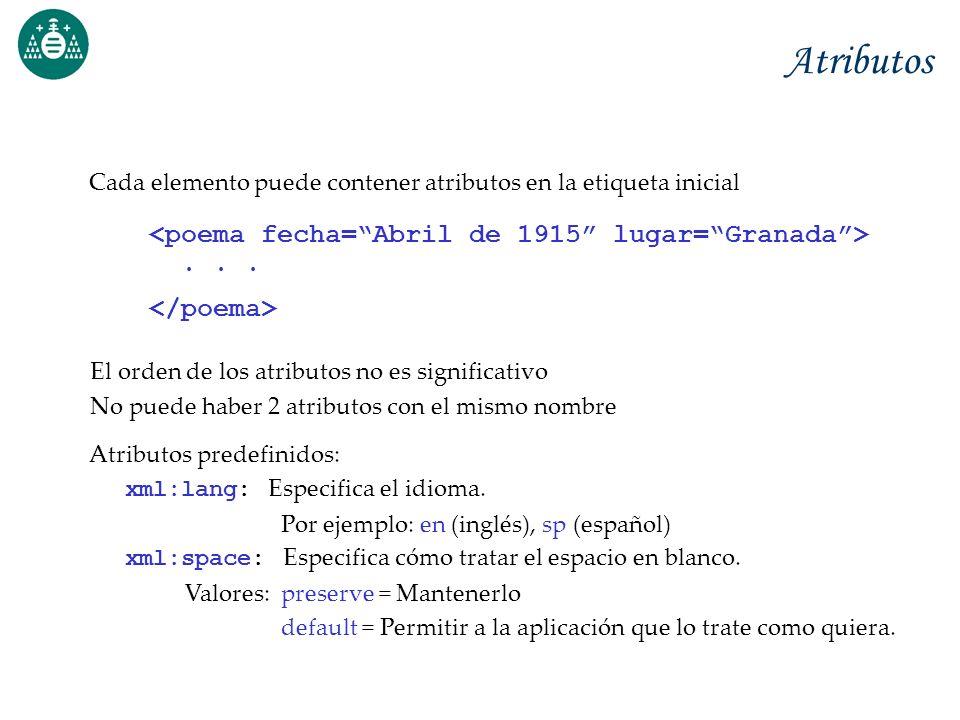 Atributos <poema fecha= Abril de 1915 lugar= Granada > . . .