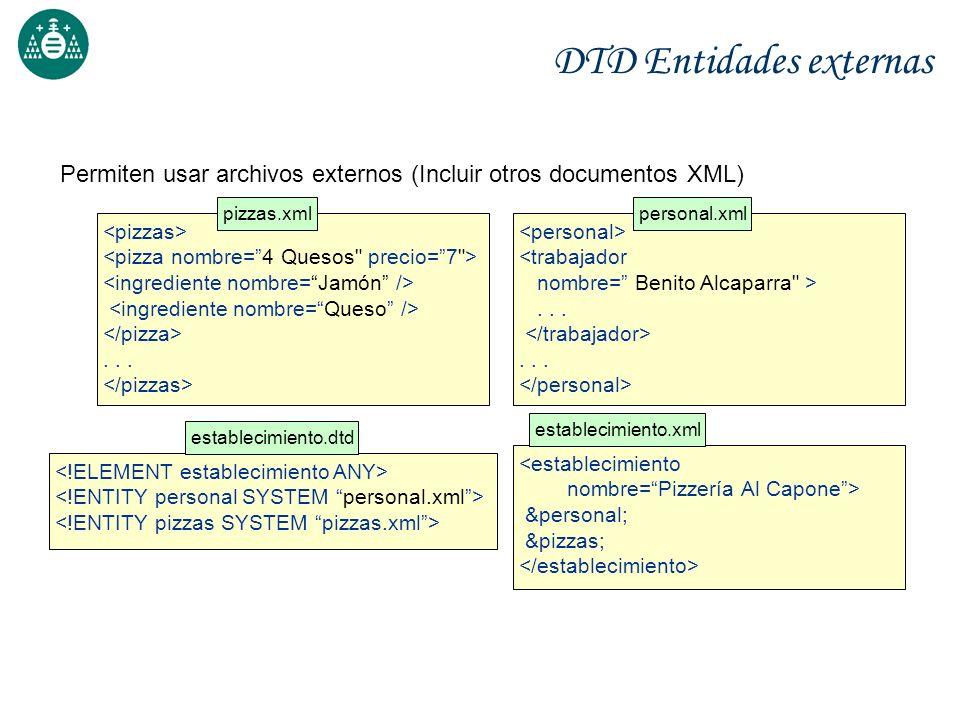 DTD Entidades externas