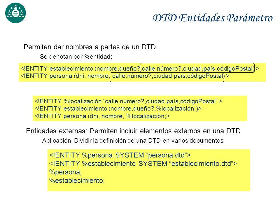 DTD Entidades Parámetro
