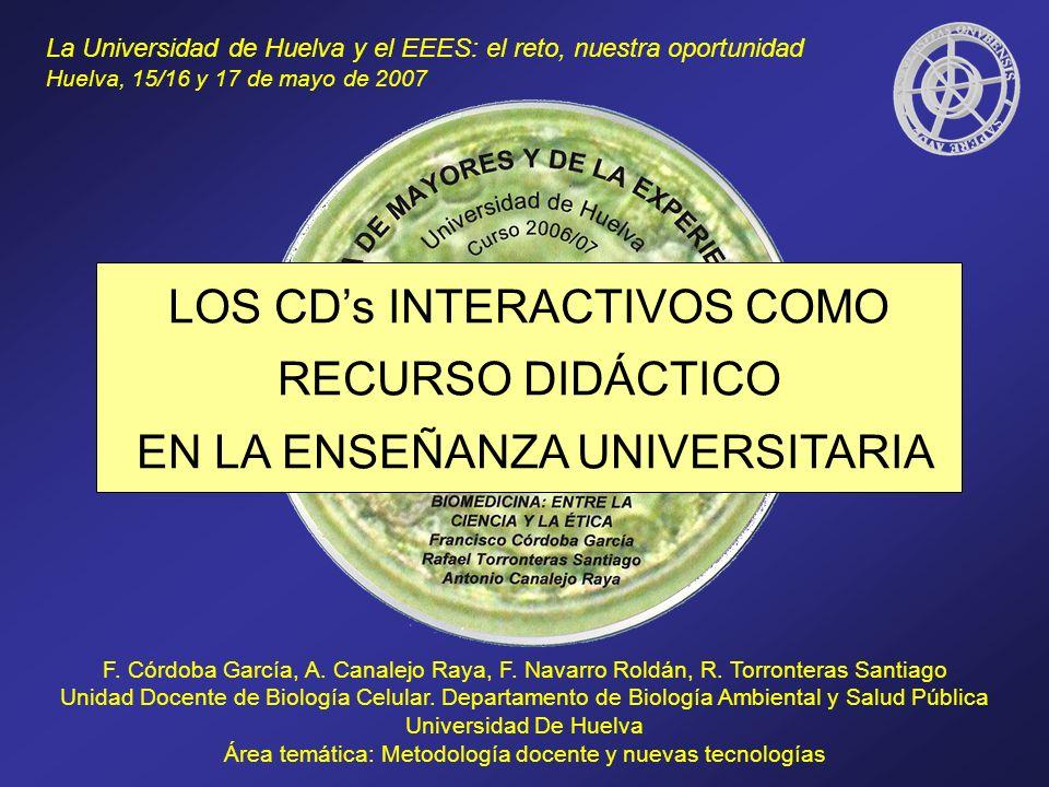 LOS CD's INTERACTIVOS COMO RECURSO DIDÁCTICO