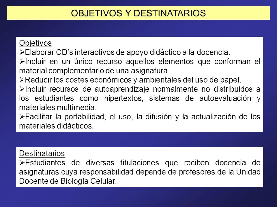 OBJETIVOS Y DESTINATARIOS