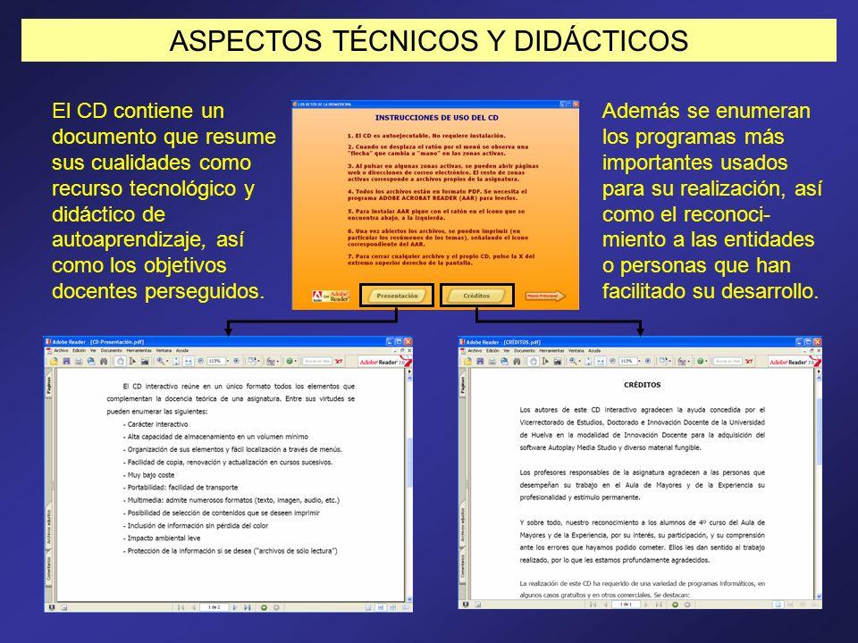 ASPECTOS TÉCNICOS Y DIDÁCTICOS