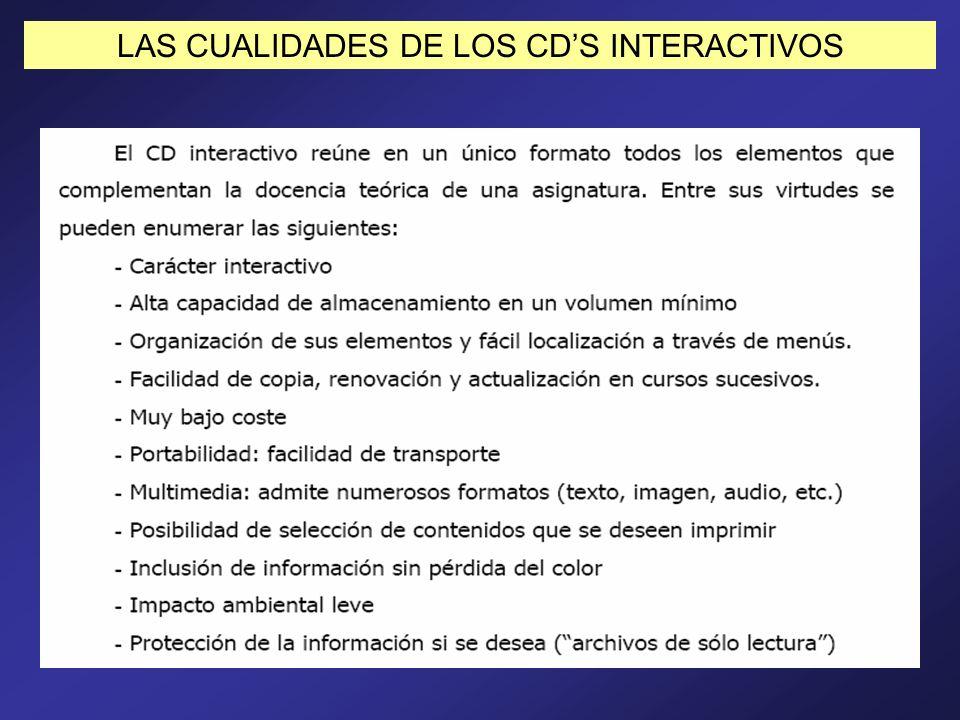 LAS CUALIDADES DE LOS CD'S INTERACTIVOS