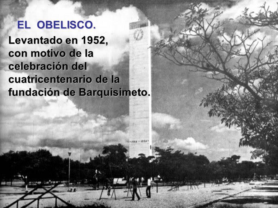 EL OBELISCO.Levantado en 1952, con motivo de la.celebración del.