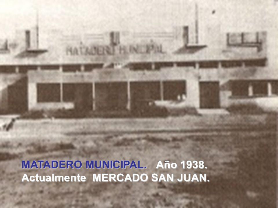 MATADERO MUNICIPAL. Año 1938.