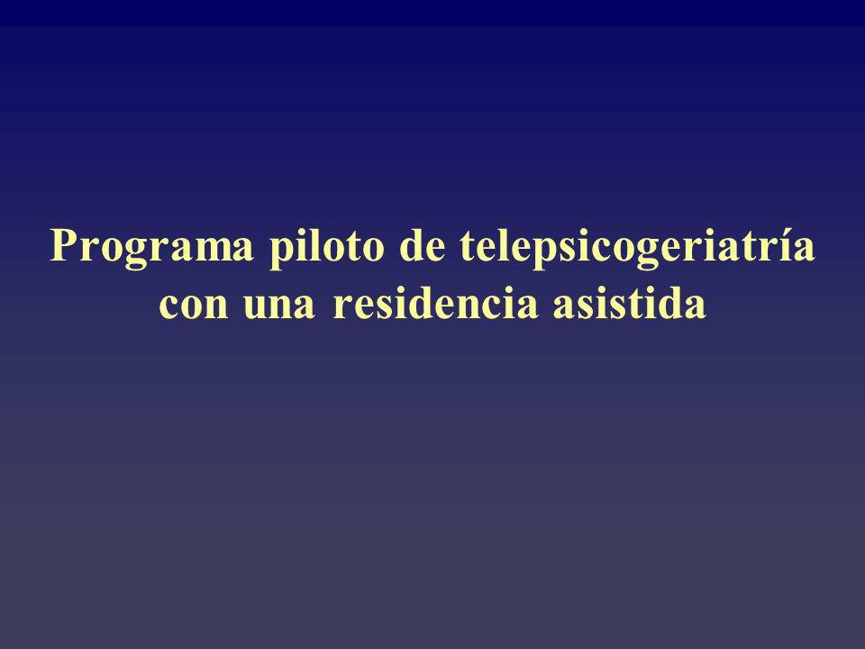 Programa piloto de telepsicogeriatría con una residencia asistida