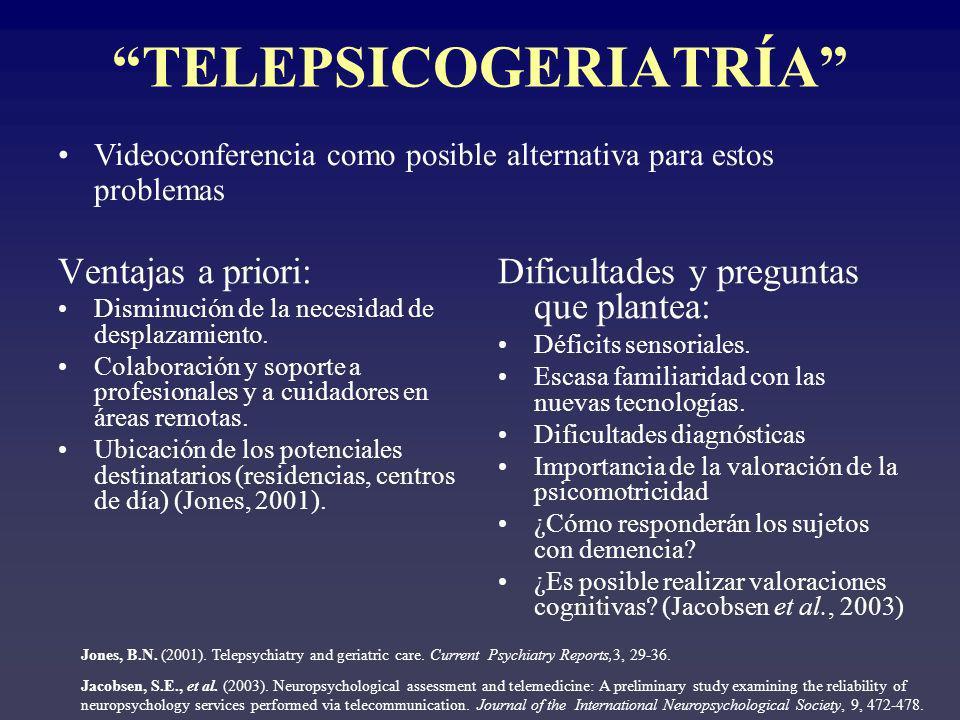 TELEPSICOGERIATRÍA
