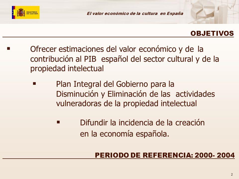 Difundir la incidencia de la creación en la economía española.