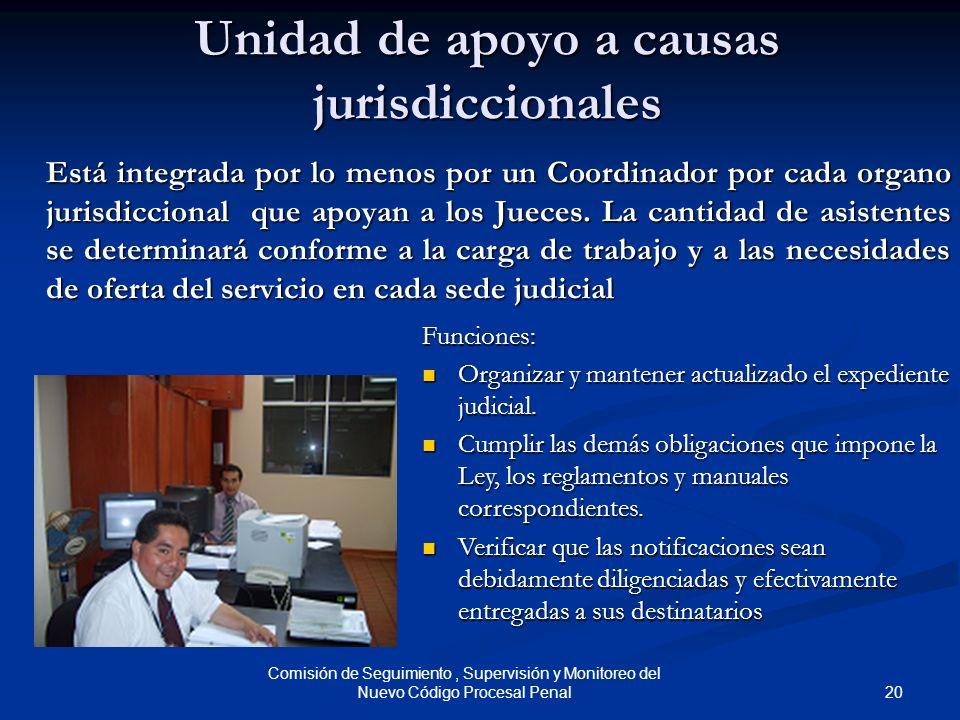 Unidad de apoyo a causas jurisdiccionales