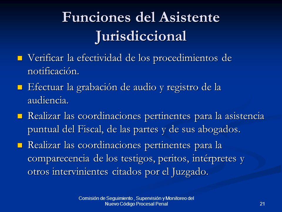 Funciones del Asistente Jurisdiccional
