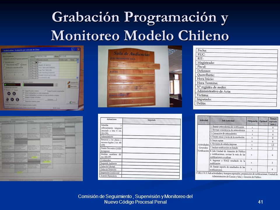 Grabación Programación y Monitoreo Modelo Chileno