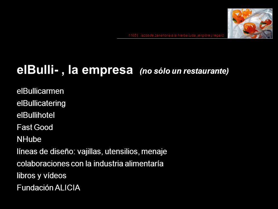 elBulli- , la empresa (no sólo un restaurante)