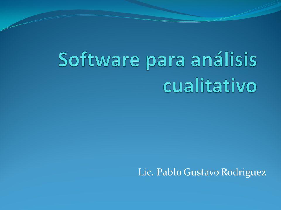 Software para análisis cualitativo