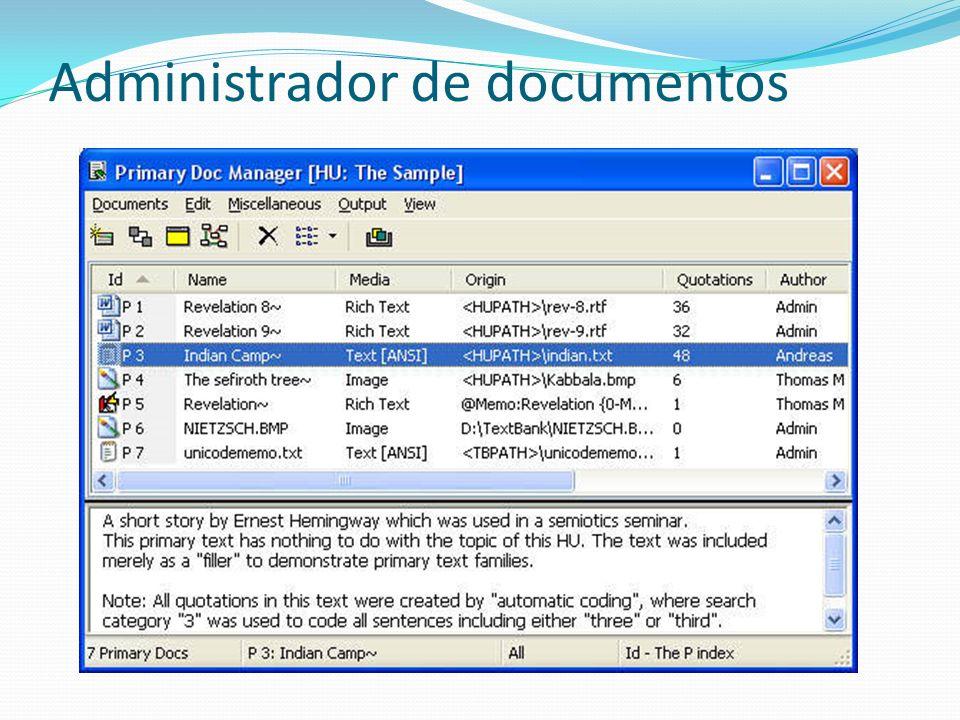 Administrador de documentos