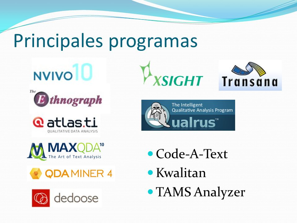 Principales programas