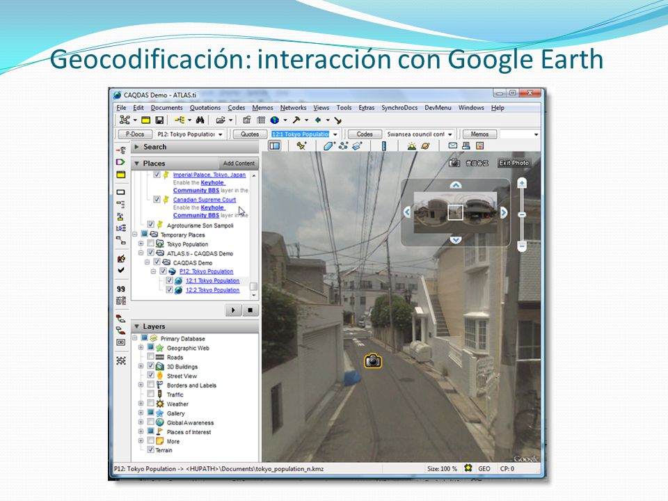 Geocodificación: interacción con Google Earth