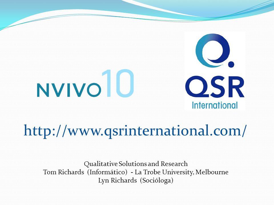 http://www.qsrinternational.com/ Qualitative Solutions and Research