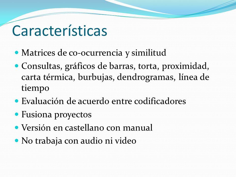 Características Matrices de co-ocurrencia y similitud