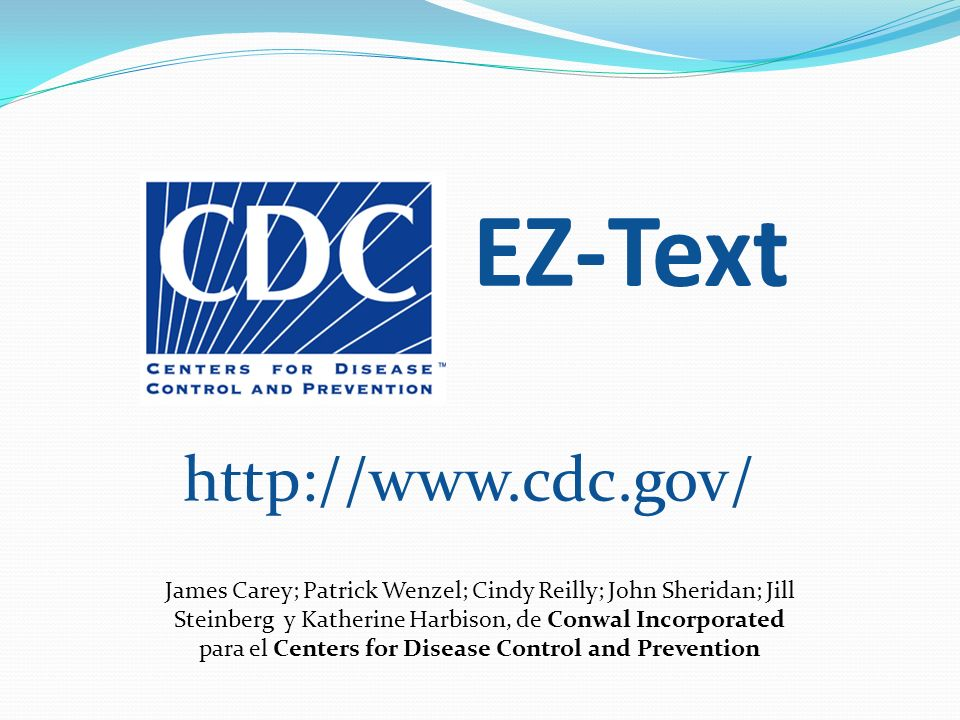 para el Centers for Disease Control and Prevention
