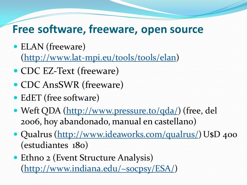 Free software, freeware, open source