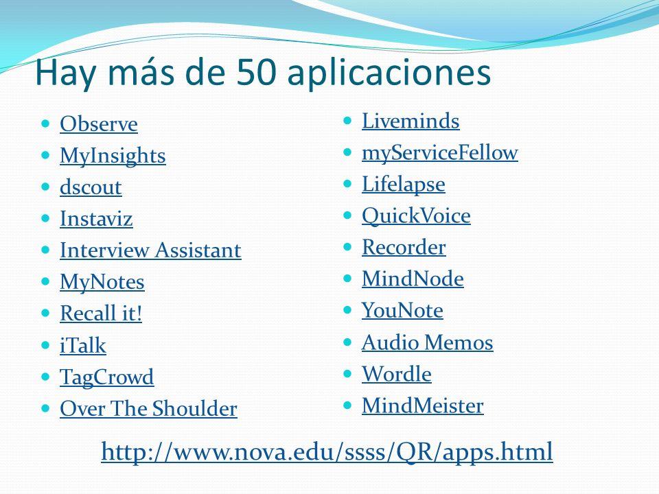 Hay más de 50 aplicaciones