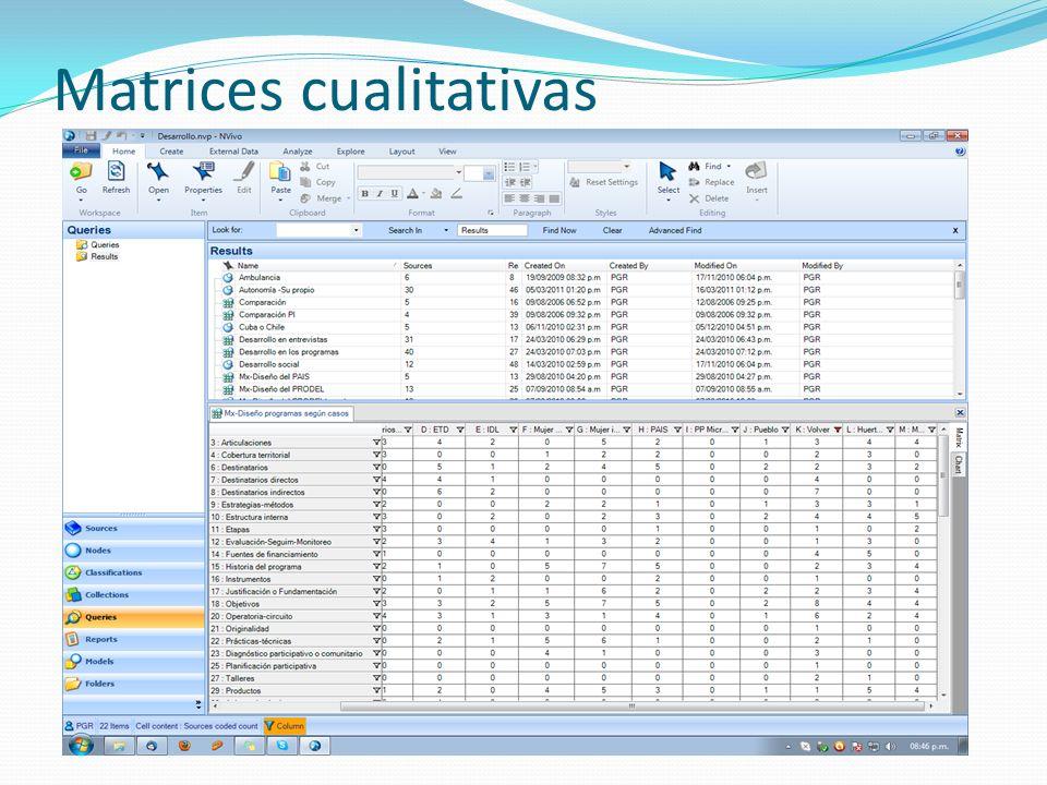 Matrices cualitativas