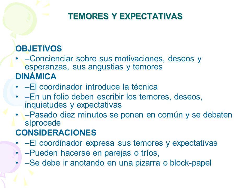 TEMORES Y EXPECTATIVAS