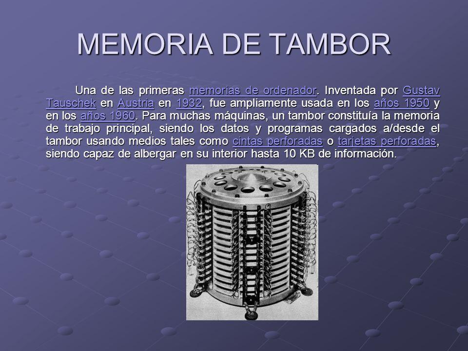 MEMORIA DE TAMBOR