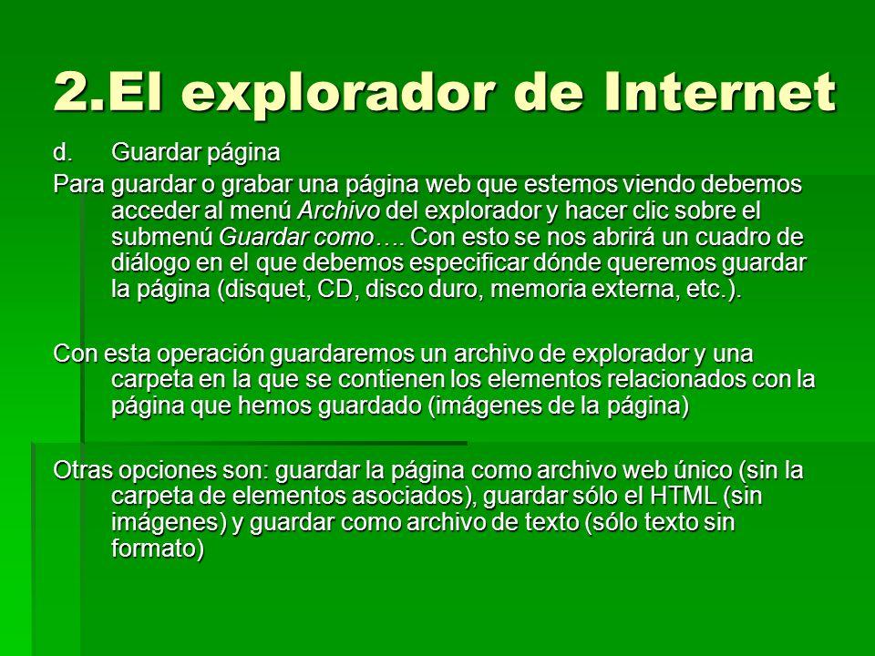 2.El explorador de Internet