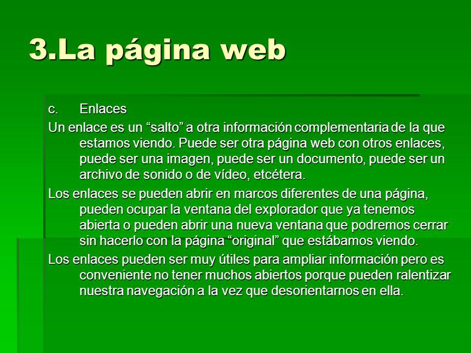 3.La página web Enlaces.