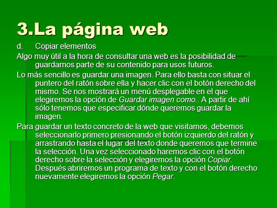 3.La página web Copiar elementos