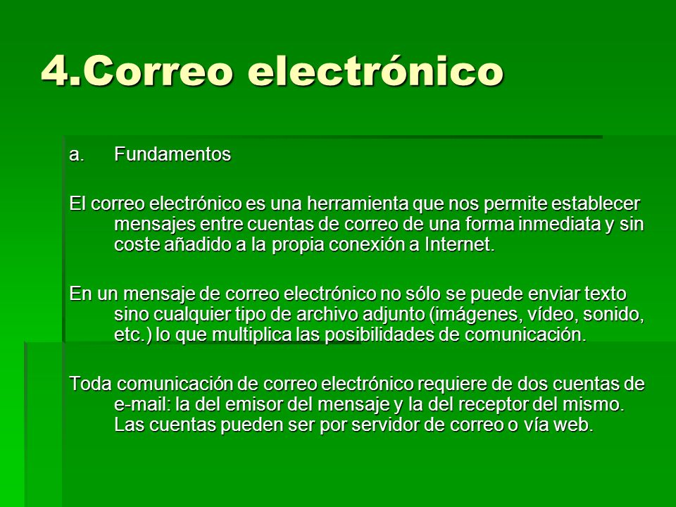 4.Correo electrónico Fundamentos