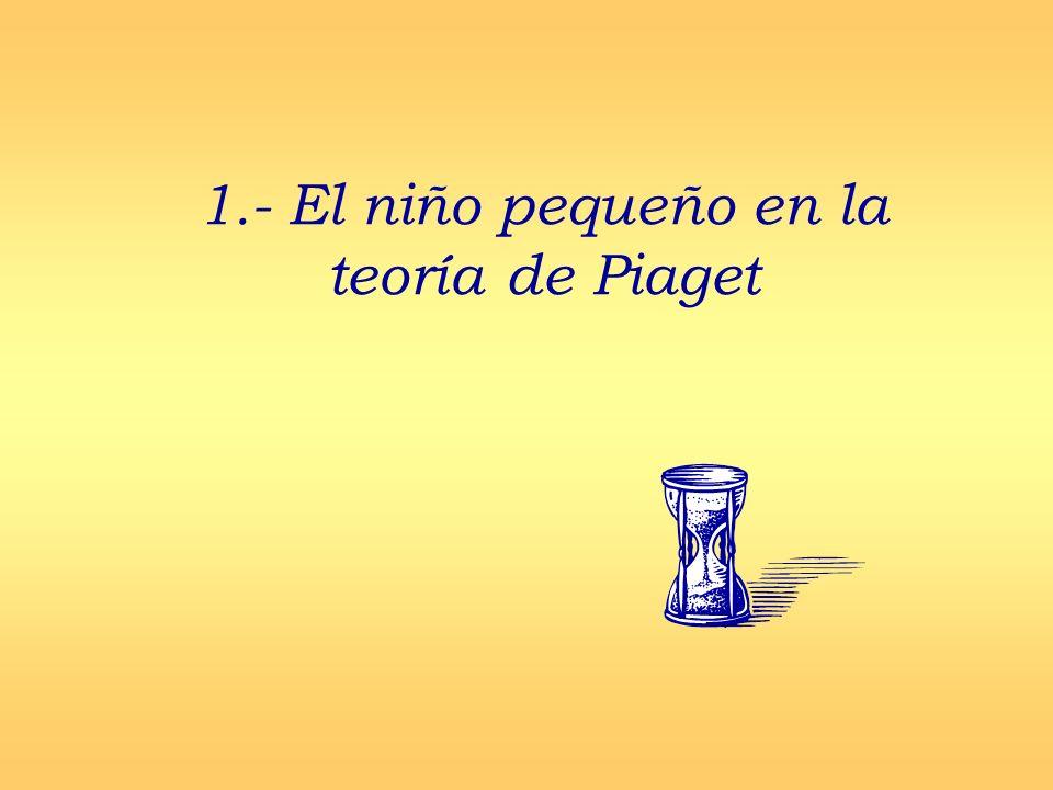 1.- El niño pequeño en la teoría de Piaget