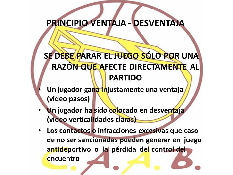 PRINCIPIO VENTAJA - DESVENTAJA