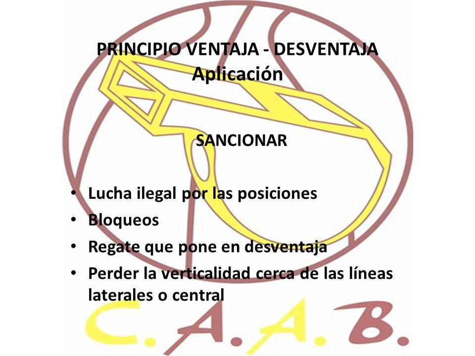 PRINCIPIO VENTAJA - DESVENTAJA Aplicación