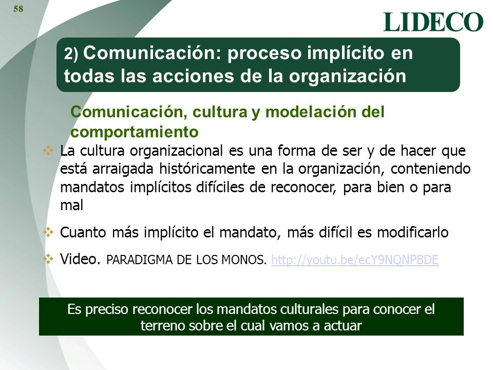 Comunicación, cultura y modelación del comportamiento