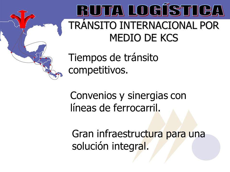 TRÁNSITO INTERNACIONAL POR MEDIO DE KCS