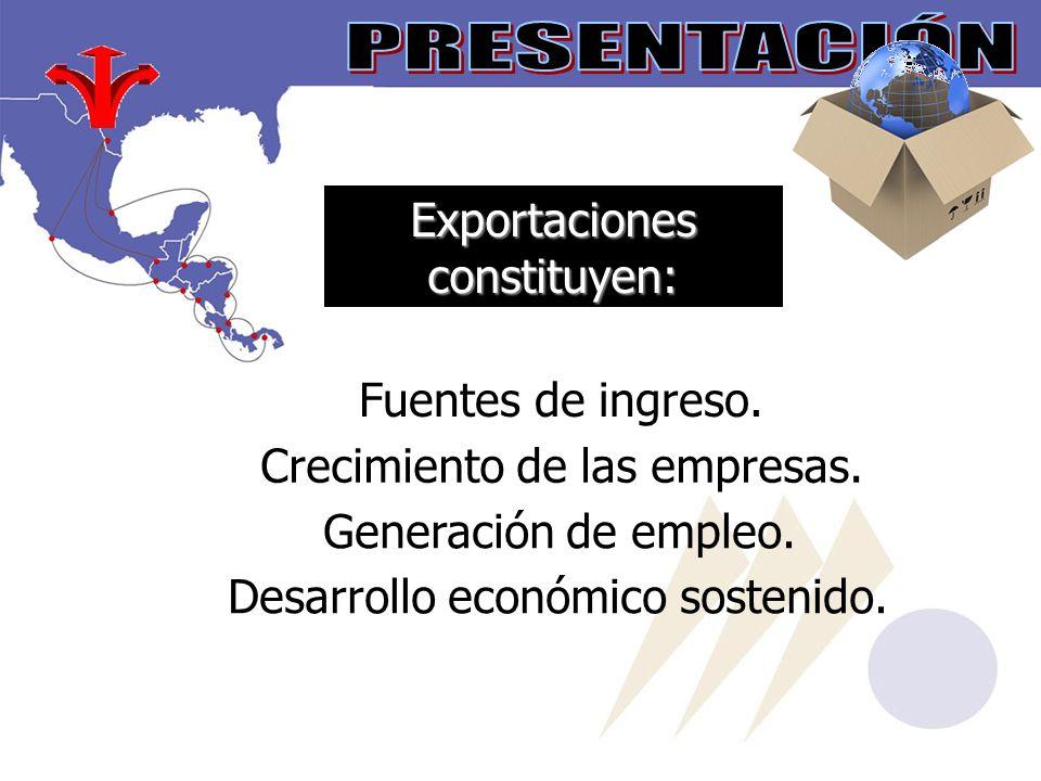 Exportaciones constituyen: