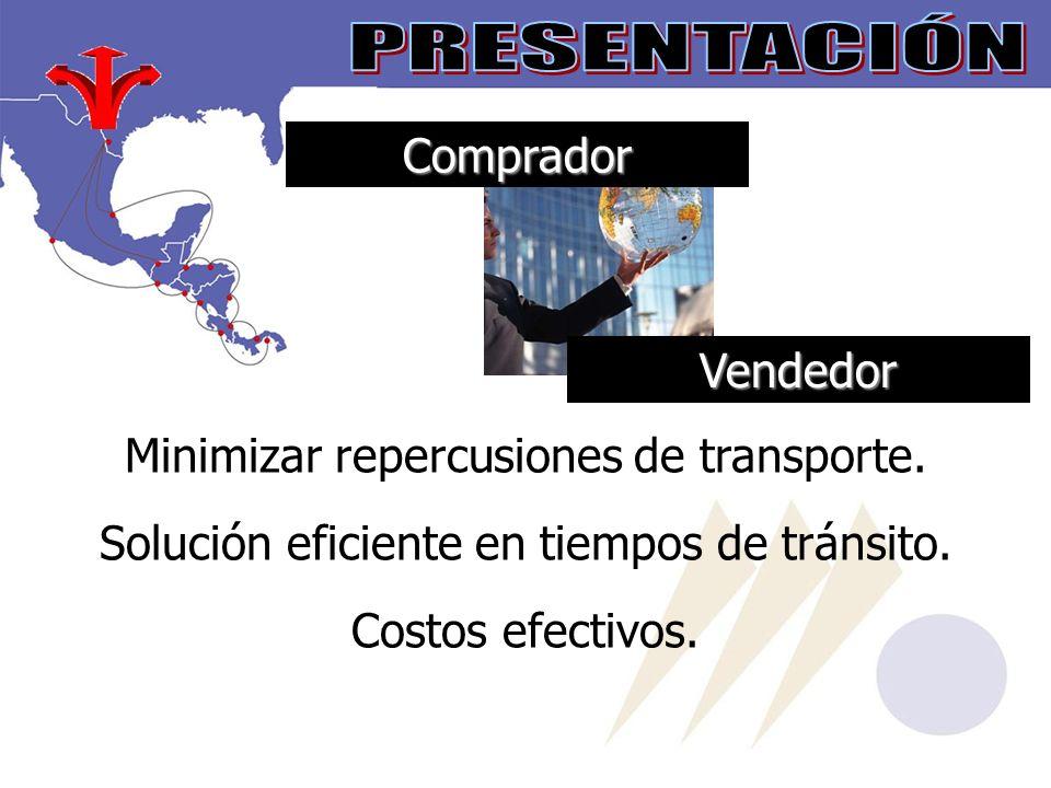 PRESENTACIÓN Comprador Vendedor Minimizar repercusiones de transporte.